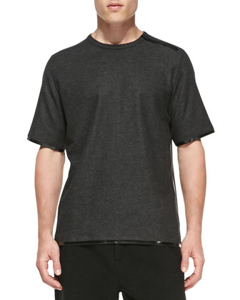 Short-Sleeve Taped-Seam T-Shirt