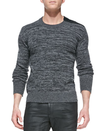 Kilberry Space-Dye Sweater, Dark Gray