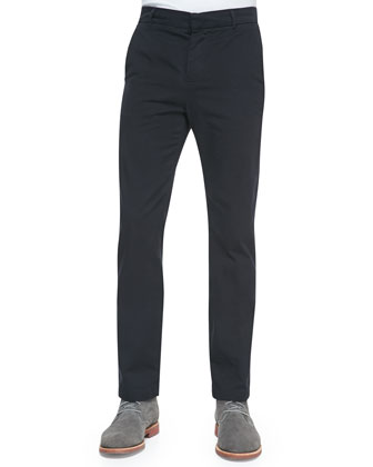 Cotton Chino Pants, Navy