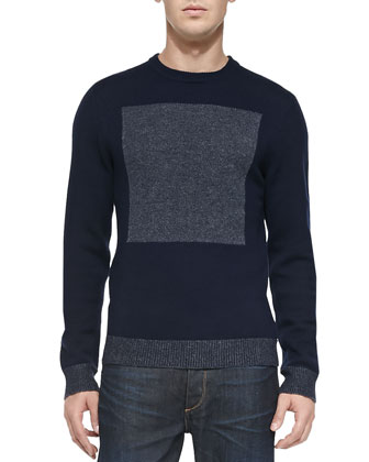 Joel Merino Wool Sweater, Navy