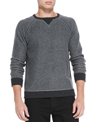 Jared Raglan-Sleeve Sweater, Black