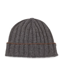 Cashmere Wide-Rib Hat