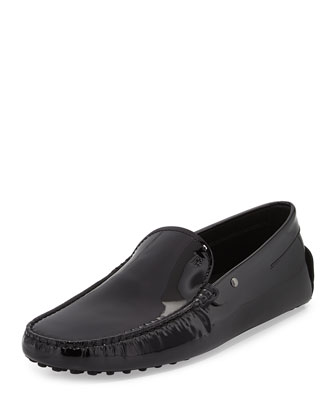 Patent Leather Driver, Black