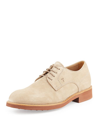 Micro-Sole Suede Lace-Up Shoe