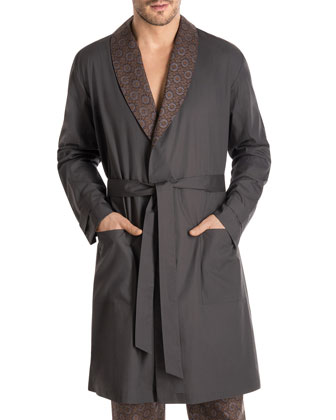 Bryant Park Woven Robe, Gray