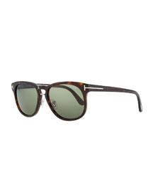 Franklin Vintage Acetate Sunglasses, Brown