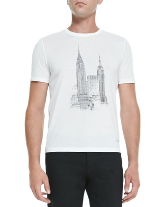 New York City Graphic Tee, White