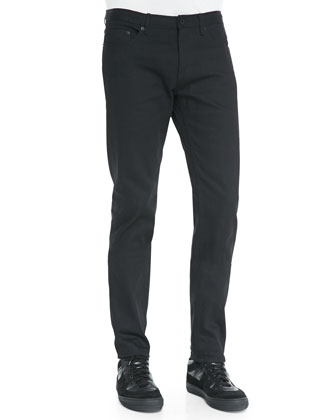 Slim-Fit Denim Jeans, Black