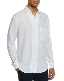 Andre Button-Down Shirt, Optical White