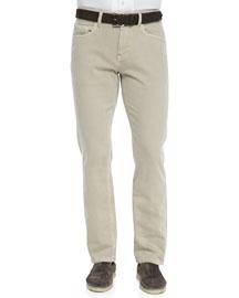 5-Pocket Denim Jeans, Light Nougat