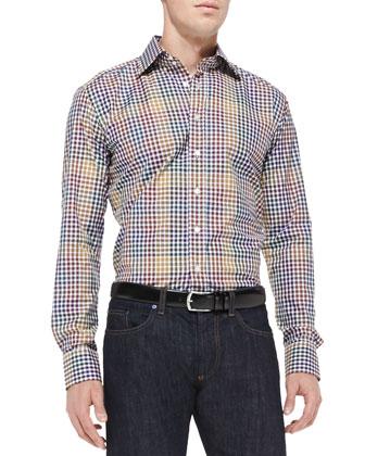Multi-Check Sport Shirt