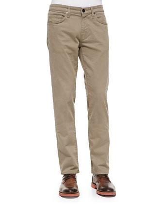 Kane Straight-Leg Jeans, Tan