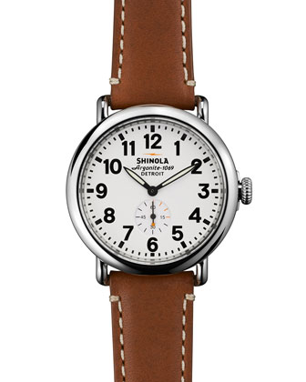 41mm Runwell Men's Watch, Brown/White
