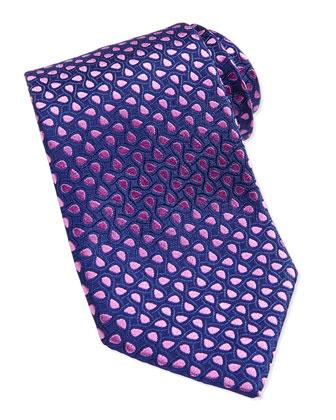 Teardrop Pattern Silk Tie