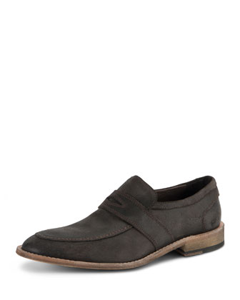District Suede Slip-On Shoe, Dark Brown