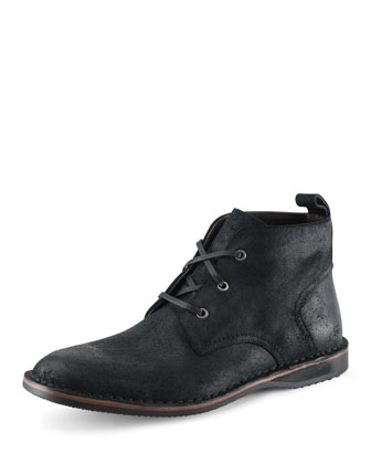 Dorchester Canvas & Leather Chukka Boot, Black