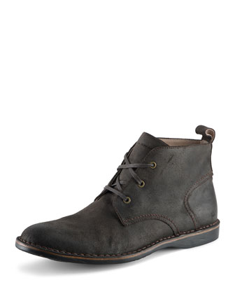 Dorchester Canvas & Leather Chukka Boot, Dark Brown