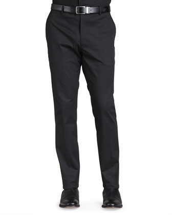 Stretch-Twill Trousers, Black