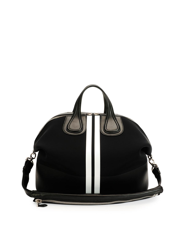 Givenchy Men's Nightingale Neoprene Satchel Bag, Black, Black/White
