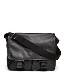 Obsedia Leather Messenger Bag