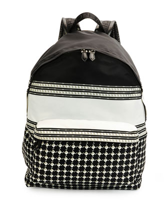 Keffieh Printed Nylon Backpack