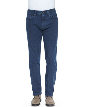 Slim-Fit Denim Jeans, Denim