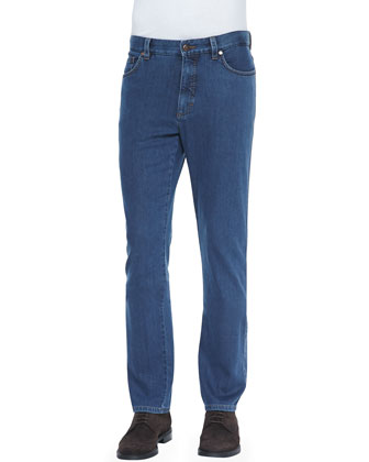 Cotton-Stretch Denim Jeans