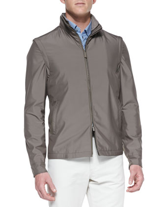 Scott Zip-Front Jacket, Butterscotch
