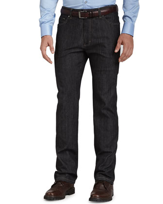 Five-Pocket Jeans, Black