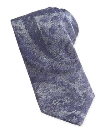 Woven Paisley Tie, Navy