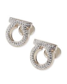 Crystal Studded Gancini Cuff Links