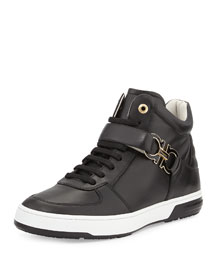 Nayon High-Top Sneaker with Side Gancini, Black