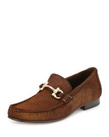 Giordano 3 Calf Hair Bit Loafer, Brown