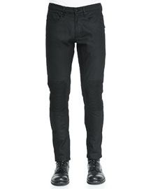 Blackrod Raw Stretch Denim Jeans, Black