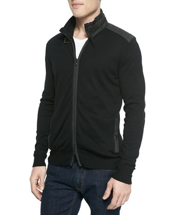 Regent Front-Zip Knit Sweater