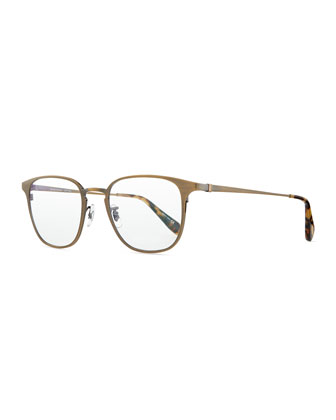 Pressman Square Titanium Fashion Glasses, Aged Gold