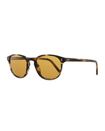 Men's Fairmount Plastic Square Sunglasses, Light Brown Tortoise