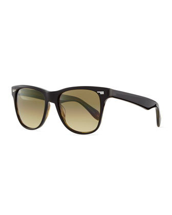 Men's Lou 54 Sunglasses, Black/Olive Tortoise