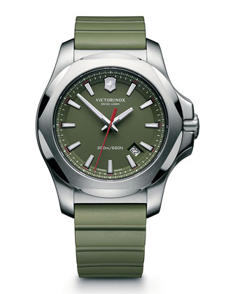 Inox Rugged Watch with Protective Cover, Green