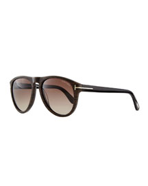 Kurt Acetate Aviator Sunglasses, Brown