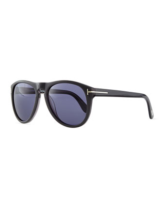Kurt Acetate Aviator Sunglasses, Gray