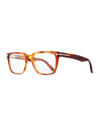 Acetate Fashion Glasses, Light Havana