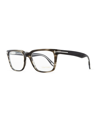 Acetate Fashion Glasses, Gray