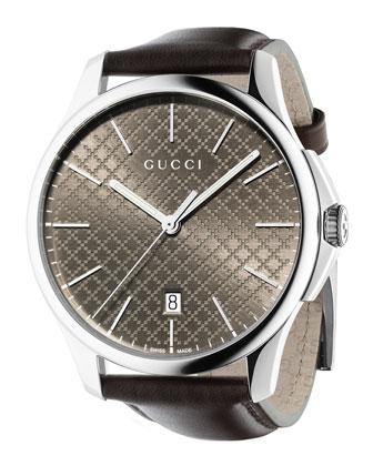 G-Timeless Automatic Watch, Dark Brown
