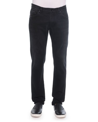 Relaxed-Fit Denim Jeans, Black