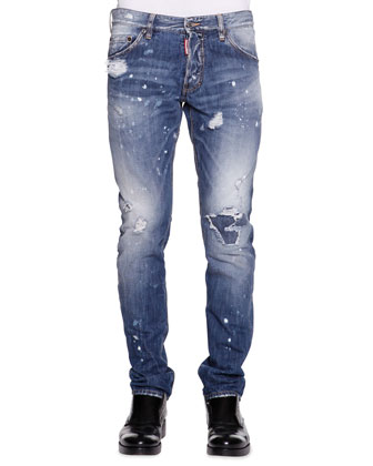 Cool Guy Slim-Fit Distressed Jeans