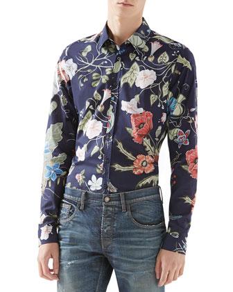 Flora Knight Print Shirt