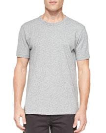 Short-Sleeve Perfect Jersey T-Shirt, Gray