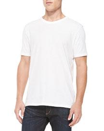 Short-Sleeve Perfect Jersey T-Shirt, White