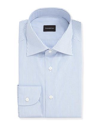Ground Track-Stripe Dress Shirt, Blue
